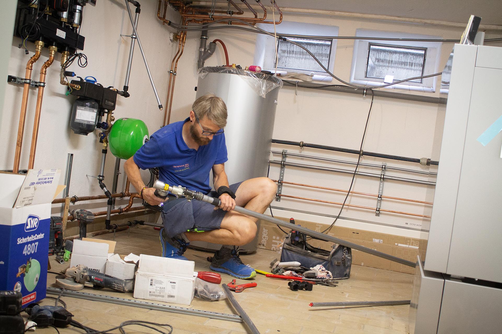 Wartung von Sanitär- und Heizungstechnik